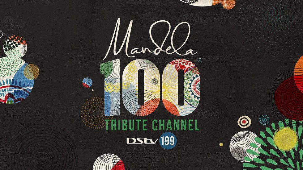 Artwork for the Mandela 100 Tribute Channel.