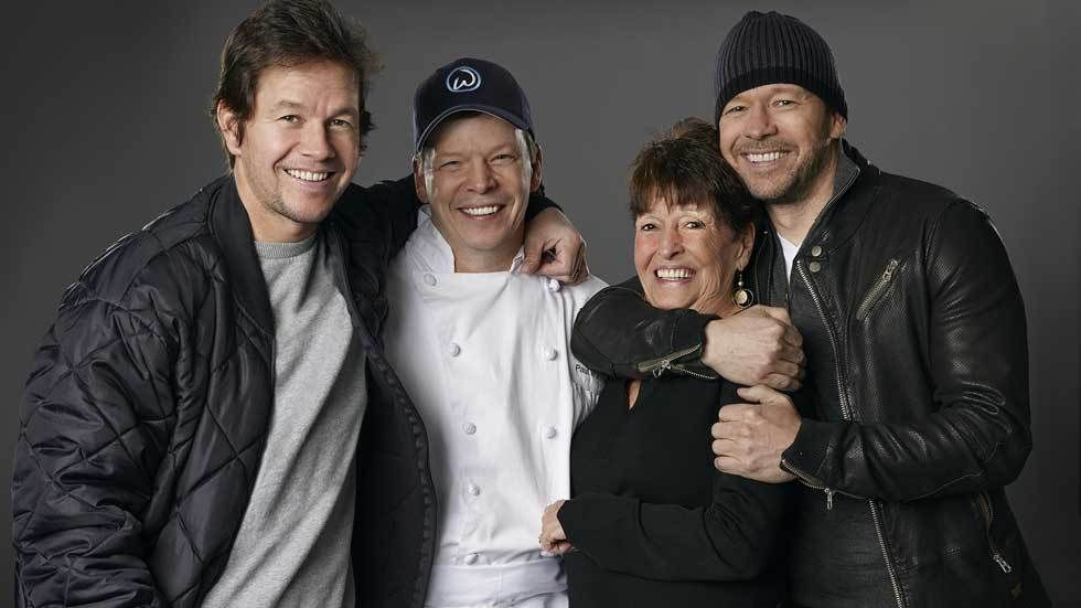 The wahlburgers with their mom
