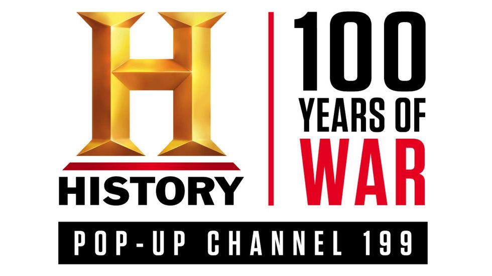 logo 100 years of war HISTORY