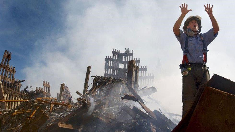 fireman on scene at 9/11