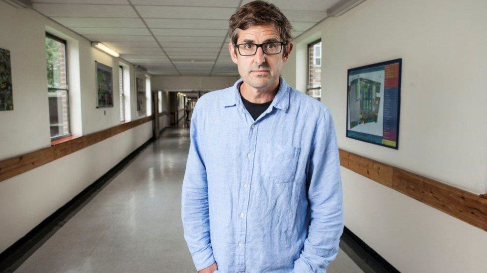 Louis Theroux in hospital passage