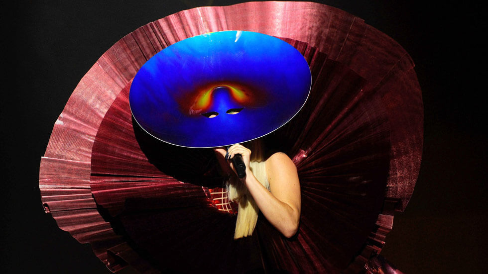 Lady Gaga at the 2011 MTV EMAs.