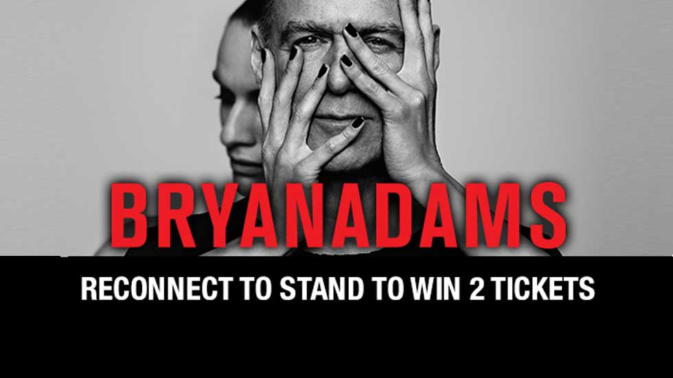 Win 2 tickets to Bryan Adams
