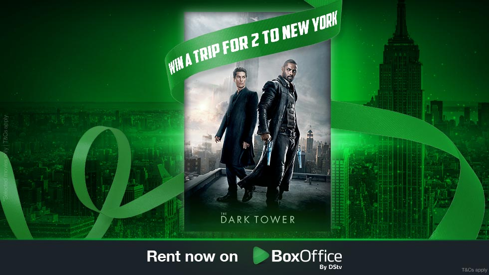 Rent Dark Tower and stand a chance to win a trip for two to NYC