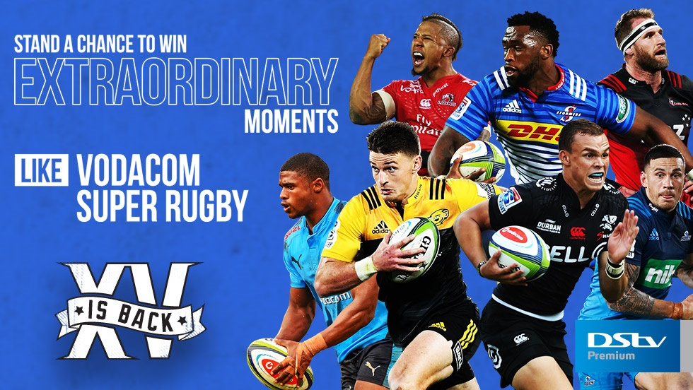 Stand a Chance to Win Tickets To International Vodacom Super Rugby Matches